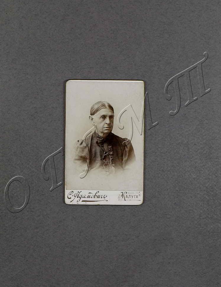 Фото. Людмила Александровна Бунина (урождён. Чубарова, 1834-1910) – мать писателя.