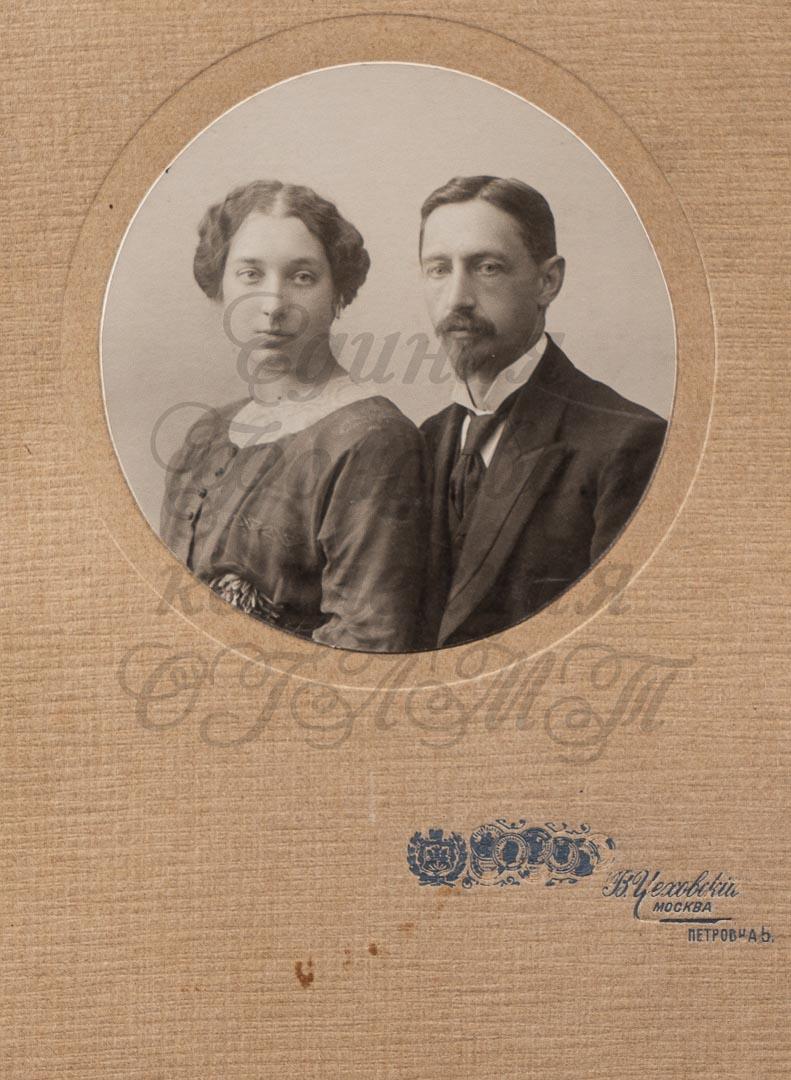 Фото. И.А. Бунин и В.Н. Муромцева. 1906 г. Москва.